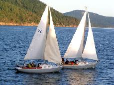 sailboat from Orcas Island Sailing Charter